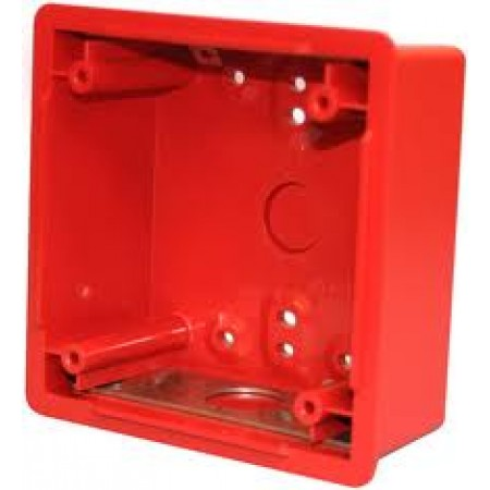 "Wheelock 4"" Red Backbox | BB-R"