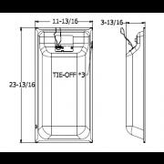 Quam Ceiling Tile Speaker 1' x 2' (Standard Perf White)