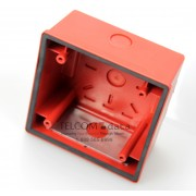 Red Back Box for Multitone Electronic Horn Strobes and Speakers