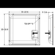 """Quam Ceiling Tile Speaker 24"""" x 24"""" with 70V Rotary Select Transformer (Black)"""