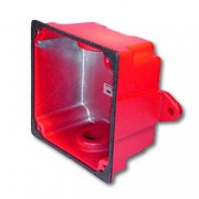 Red Waterproof Back Box for Mounting Horn Strobes