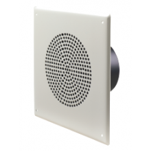 Quam Paging Horn Speaker, Stainless Steel on a Square Vandal Resistant Baffle