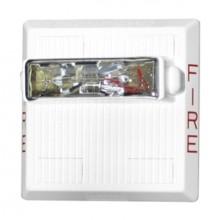 White Ceiling Mount Weatherproof Audible Horn Strobe - 115/77 cd