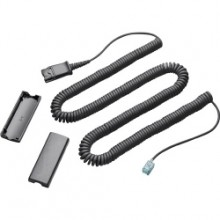 Platronics phone Coil Cable (QD to Modular Phone Jack)