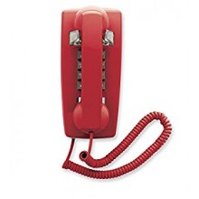 Red Emergency Analog Wall Phone 2554