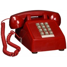 Red Analog 2500 Emergency Phone Deskset from Scitec 2510E