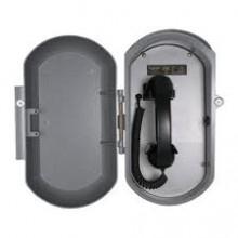 Cast Aluminum IP Ringdown Telephone w/ Coil Handset Cord