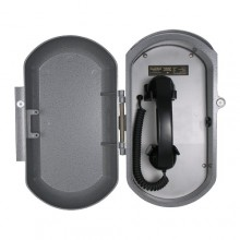 Industrial Aluminum Casting Ring Down Telephone with Curly Handset Cord