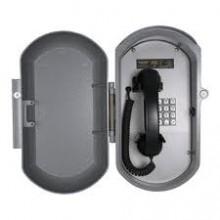 Cast Aluminum IP Telephone w/ Metal Keypad & Coil Handset Cord
