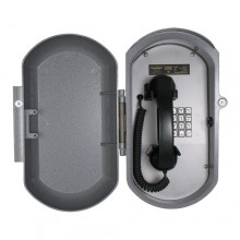 Industrial Aluminum Casting Telephone with Curly Handset Cord