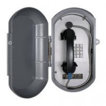 Cast Aluminum IP Telephone w/ Metal Keypad & Armored Handset Cord