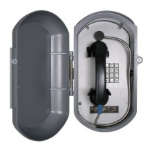 Industrial Aluminum Casting Telephone with Armored Handset Cord