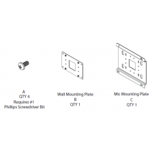 Wall Mount kit for Clear One Beamforming Microphone Array