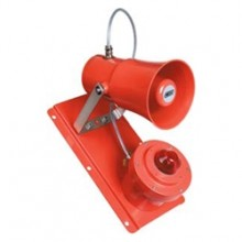 MEDC- Explosion Proof Horn Strobe, Clear Lens and Red Finish