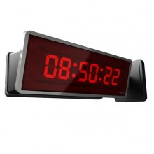 "School Digital IP Clock 4.0"" 6 Digit White"