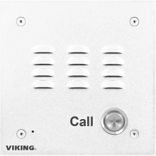 E-10-WHA-EWP Outdoor Phone Intercom System Aluminum (White Finish) by Viking Electronics