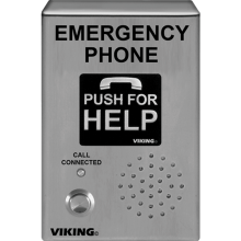 E-1600-03B Stainless Steel Armored Emergency Phone Surface Mount by Viking Electronics