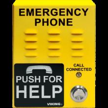 E-1600-45A Handsfree Emergency Phone (Yellow) by Viking Electronics