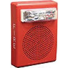 Red Wall Mount E50 Speaker Strobe, 15/30/75/110