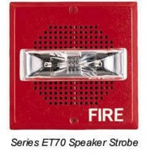 White Wall-Mount E70 Series Speaker Strobe 15/30/75/110  | E70-24MCW-FW
