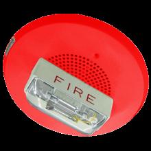 E90-24MCC-FR Red Ceiling Mounted E90 Speaker Strobe