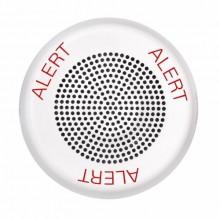 ELSPKWC-AL ELUXA White Ceiling High Fidelity Fire Speaker 25V / 70V (ALERT Lettering) by EATON