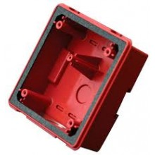 Red Backbox for Mounting ASWP Horn Strobes