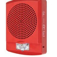 Red LED High Fidelity Speaker Strobe with Fire Lettering