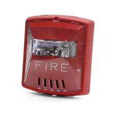 HSR Red Wall Mount Exceder Fire Alerting Horn Strobe  | HSR