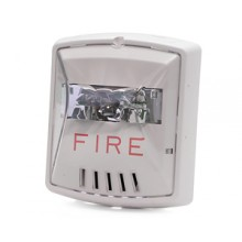 White Wall Mount Exceder Fire Alerting Horn Strobe