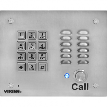 Viking VoIP Weather Protected Stainless Steel Entry Phone K-1700-IP-EWP