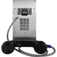 """Armored Outdoor IP Phone with Keypad and 12"""" Armored Cable by Viking Electronics"""