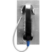 """Vandal Resistant Outdoor Armored Phone with Keypad and 12"""" Armored Cable by Viking Electronics"""