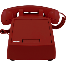 Landline Phone with Ringer by Viking Electronics (Red)