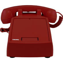 VoIP Desk Phone with Auto Dialer (RED) by Viking Electronics