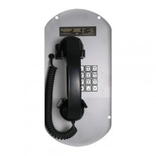 Telephone Panel Insert with Curly Handset Cord