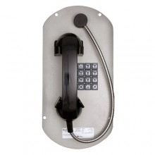 Telephone Panel Insert with Armored Handset Cord
