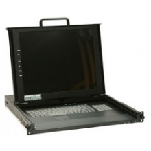 "17"" Rackmount Monitor with Keyboard and Mouse Devices"