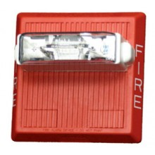 Red Wall Mount Multitone Electronic Red Horn Strobe - 12 VDC, 15/75  | MT-121575W-FR
