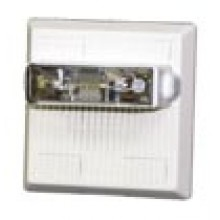 White Wall‑mount Weatherproof Multitone Strobe No Lettering 24VDC, 75CD | MTWP-2475W-NW