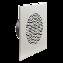 Quam Paging Horn Speaker 25/70V on Square Vandal Resistant Baffle
