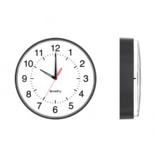"12"" Quartz Clock for Schools (Metal Black Case)"