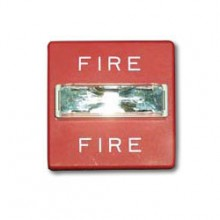 Red Wall Mount RSS Series Strobe 15/30/75/110 Fire Lettering | RSS-24MCW-FR