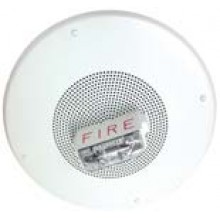 White Wall Mount Self-Amplified Speaker Strobe 12/30/75/95 Fire Lettering | SA-S70-FW