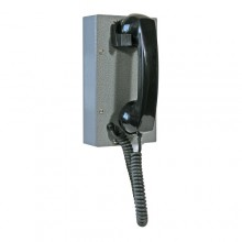 Industrial Steel Ring Down Telephone with Curly Handset Cord for Hazardous Area