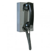 Industrial Steel Ring Down Telephone with Curly Cord