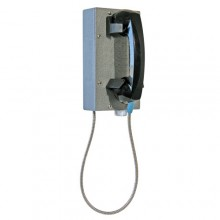 Industrial Steel Ring down Telephone with Armored Handset Cord for Hazardous Area