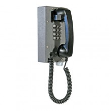 Industrial Steel Telephone with Weather/Dust Proof Metal Keypad and Curly Cord for Hazardous Area