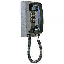 Industrial Steel Telephone with Weather and Dust Proof Metal Keypad/Curly Cord