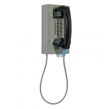 Industrial Steel Telephone with Weather/Dust Proof Metal Keypad and Armored Cord for Hazardous Area
